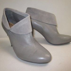 Coach Annika Grey-Color Leather Booties Size 7.5